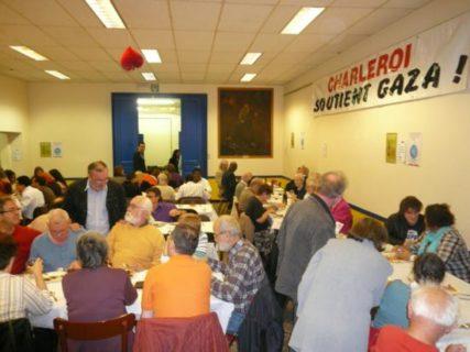 Repas de solidarité avec la Flotille à Charleroi