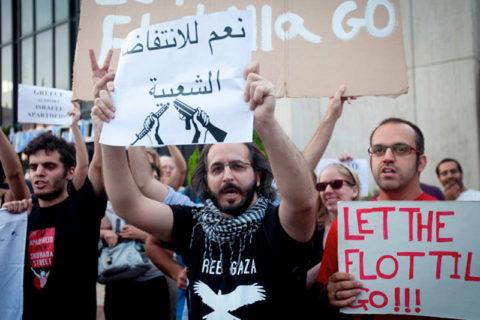Protestations contra la Grèce à propos de la Flottille de la Liberté II. Oren Ziv - ActiveStills)