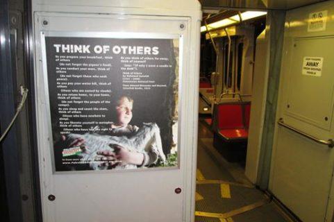 Des paroles de Mahmoud Darwich dans les autobus de San Francisco