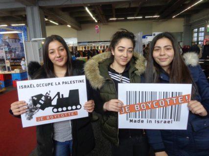 De nombreux Carolos ont participé à une campagne pour promouvoir BDS, mais leur bourgmestre n'a pas entendu leur message. Photo : Plate-forme Charleroi-Palestine