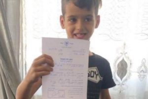 Un des enfants emprisonnés : Qais Firas Obaid