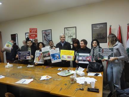 Rencontre d'une délégation de la Plate-forme Charleroi-Palestine avec la Campagne de boycott des soutiens d'Israël au Liban