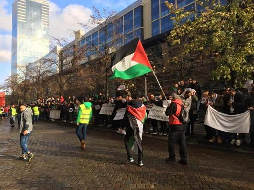 Manifestation des demandeurs d'asile Palestiniens