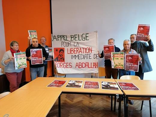 Charleroi : Solidarité avec Georges Abdallah et Ahmad Sa'adat à Charleroi