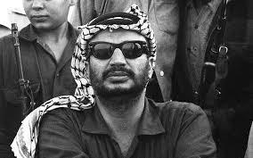 Yasser Arafat,  président de l'OLP en 1970,