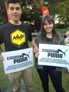 Puma soutient les équipes de foot dans les colonies : boycott !