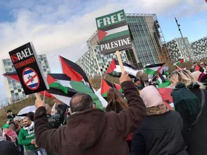 Manifestation devant la CPI à La Haye le 29 novembre 2019