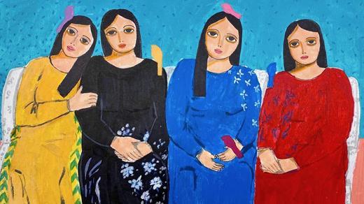 Une œuvre de l'artiste Haya Kaabneh