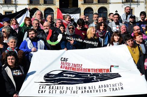 Les Basques sont bien décidés à mettre un terme au rôle du constructeur ferroviaire CAF dans le métro léger de Jérusalem