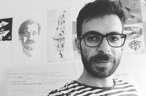 Hafez Omar, un artiste palestinien arrêté par les forces israéliennes en mars 2019. (Photo : Twitter)