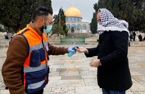 Le voisinage de la mosquée al-Aqsa quasi désert suite au confinement