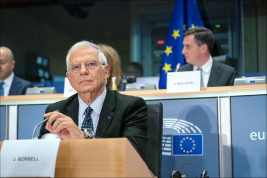 Josep Borrell, responsable de la politique étrangère de l'UE, avait déclaré en février que l'annexion de la Cisjordanie par Israël «pourrait ne pas se faire sans grandes contestations». Il apparaît désormais qu'il ne réitérera pas cette mise en garde. (Photo: Parlement européen)