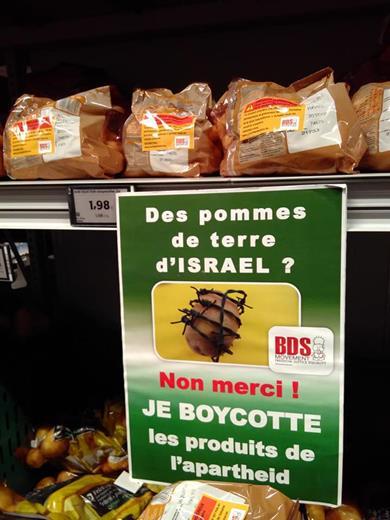 Appel à boycotter les pommes de terre d'Israël