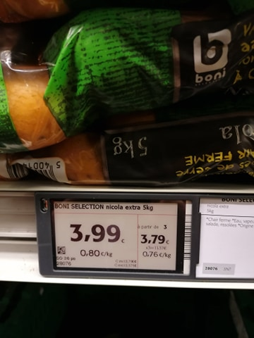 pommes de terre d'Israël