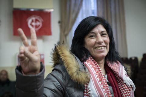Elle est une des personnages publics que le CJPA donne en exemple de l'appartenance des groupes de défense des droits humains au « terrorisme »