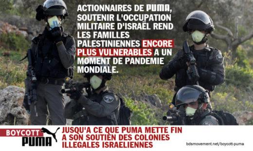 Affiche de campagne : boycott Puma