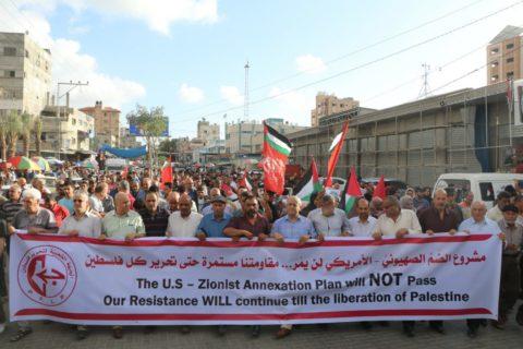 Des milliers de Palestiniens ont manifesté à Gaza contre l'annexion en Cisjordanie