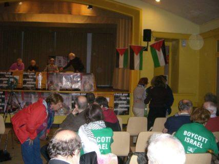 Meeting de soutien aux inculpés à Colmar en 2013 CAPJPO-EuroPalestine
