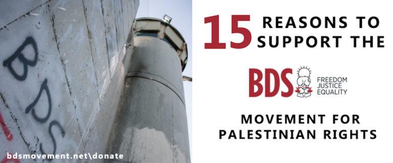 15 raisons pour soutenir BDS