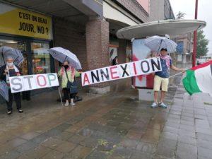 La Plate-forme Charleroi-Palestine a rejoint les protestations