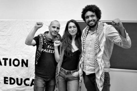 Les Humboldt3': de gauche à droite : Ronnie Barkan, Majed Abusalama, and Stavit Sinai (Photo: via les réseaux sociaux)