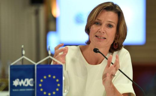 Depuis belle lurette, la coordinatrice de l'UE pour l'antisémitisme, Katharina von Schnurbein, répand des calomnies et des mensonges sur les activistes des droits palestiniens. (Photo : Andreas Gebert Reuters)