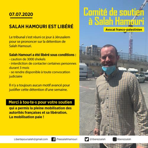 Salah Hamouri est libéréré