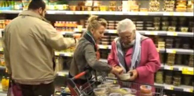 Action BDS dans un super-marché à Marcinelle