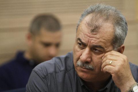 Mohammad Barakeh, responsable du Comité supérieur de suivi, à la Knesset, le 14 mai 2012. (Photo : Miriam Alster / Flash90)