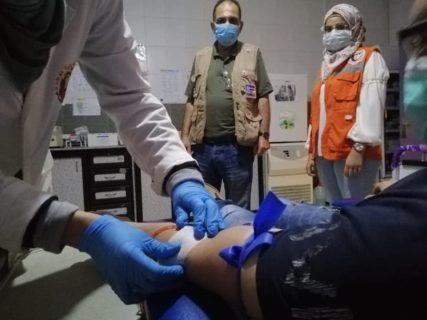 L'association Human Call Association a mis l'hôpital dans le camp d'Ain el-Helweh à disposition pour accueillir les victimes de Beyrouth
