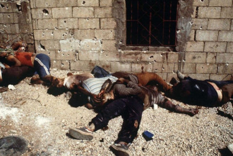 Le massacre de Sabra et Chatila. Photo : archives Chronique de Palestine