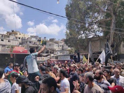 Manifestation dans Ain al-Helweh, juillet 2019. Photo : Collectif Palestine Vaincra