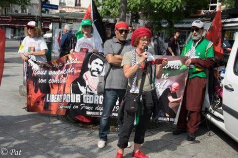 Suzanne Le Manceau à la manifestation du 19 juin 2019 à Paris