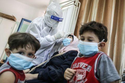 27 septembre 2020. Le centre de testing du coronavirus (Covid-19) à Gaza. (Photo : Ali Jadallah / Anadolu Agency)