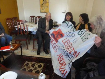 Salah et Samira Salah avec la délégation belge