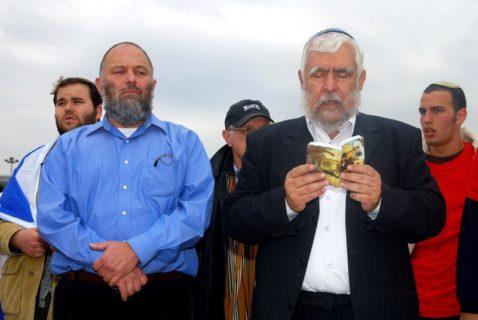 «Nous allons devoir les tuer tous», a déclaré l'ancien ministre israélien Effie Eitam, à gauche, en parlant des Palestiniens. Il a été nommé à la tête du mémorial officiel de l'Holocauste, en Israël. (Photo: Rafael Ben-Ari Chameleons Eye)