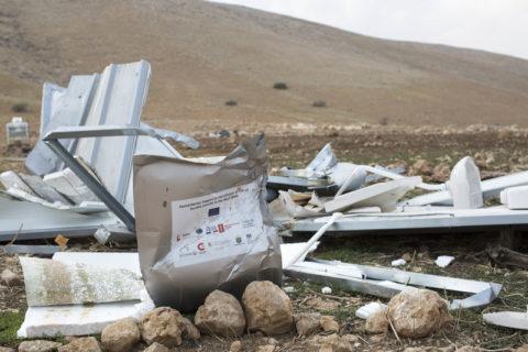 Israël avait causé des destructions pour une valeur de plus de 2 millions de USD à des projets d'aide financés par l'UE en Cisjordanie occupée (Photo: Keren Manor ActiveStills)