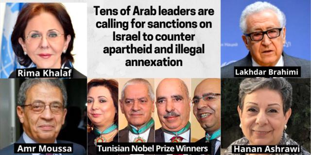 Des dirigeants arabes appellent à de sanctions