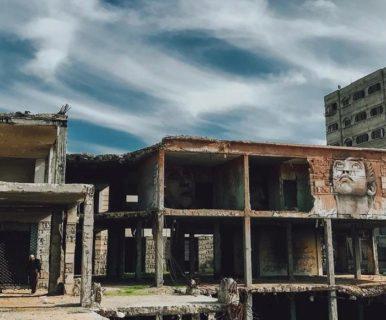 Les Gazaouis ont converti le complexe italien détruit en une œuvre d'art. (Photo : We Are Not Numbers)