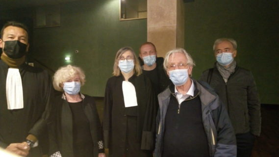 Olivia Zémor, les avocats et les témoins