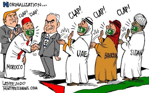 Cartoon de Carlos Latuff sur Twitter (normalisations)