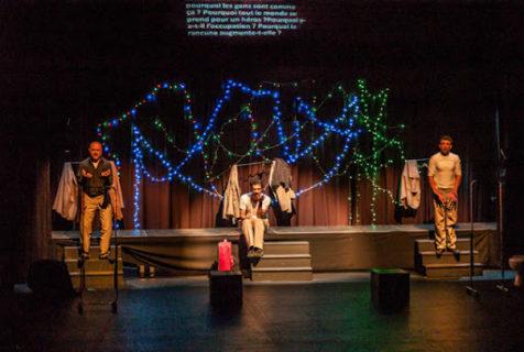 """3 en 1"", Yes Theatre, Laval, France, le 24 septembre 2014 (Raed Alshyoukhi, Mohammed Titi, Ihab Zahdeh)"