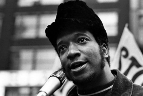 Fred Hampton, dirigeant Black Panther, Dirksen Federal Building, 1969. (Photo : Paul Sequeira)