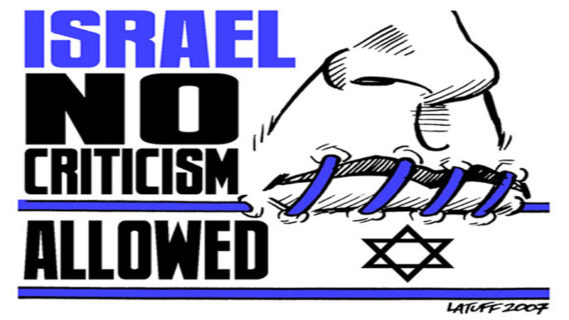 Israël : pas de critique permise. Cartoon : Carlos Latuff