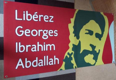 Calicot de l'Appel belge pour la libération de Georges Abdallah
