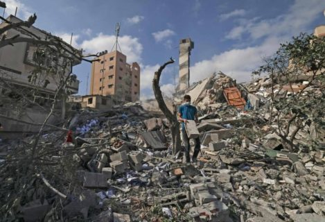 Gaza au dixième jour de l'agression (Photo : Ziad Medoukh)