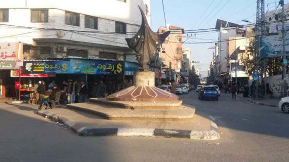 Le Phénix, d'Iyad Sabbah, place de la Palestine, à Gaza. (Photo: Israa Mohammed Jamal)