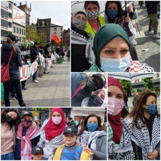 Vie Féminine s'est mobilisé en soutien à la grève générale en Palestine (Photo : Fatima Ben Moulay)
