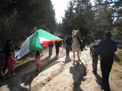 La Marche de la Nakba, en 2008, commémorant 60 ans de dépossession palestinienne, fut organisée à Saffouriya. (Photo: Jonathan Cook)