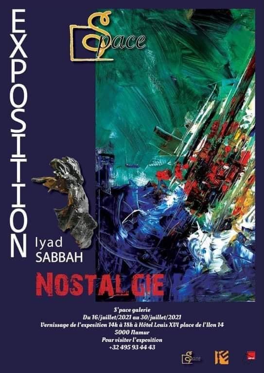 "Affiche de l'exposition ""Nostalgie"" d'Iyad Sabbah"